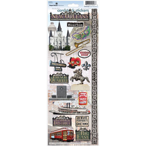 Paper House Productions - New Orleans Collection - Cardstock Stickers - New Orleans 2