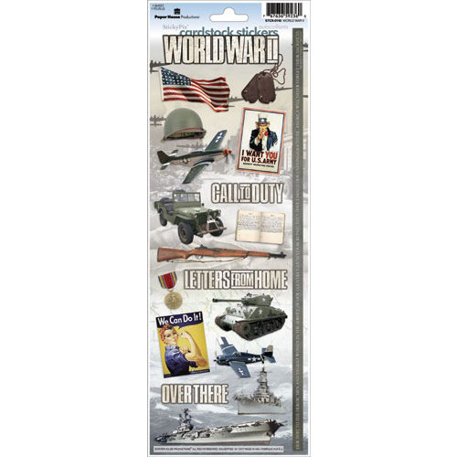 Paper House Productions - World War II Collection - Cardstock Stickers - World War II