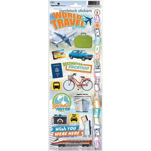 Paper House Productions - World Travel Collection - Cardstock Stickers - World Travel