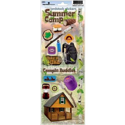 Paper House Productions - Summer Camp Collection - Cardstock Stickers - Summer Camp