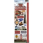 Paper House Productions - San Francisco Collection - Cardstock Stickers - San Francisco 2