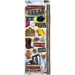 Paper House Productions - Texas Collection - Cardstock Stickers - Texas 2