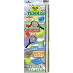 Paper House Productions - Tennis Collection - Cardstock Stickers - Tennis