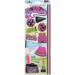 Paper House Productions - Cheerleading Collection - Cardstock Stickers - Cheerleading