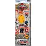 Paper House Productions - Heritage and Heroes Collection - Cardstock Stickers - Firefighter