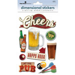 Paper House Productions - Beer Collection - 3 Dimensional Cardstock Stickers with Foil Glitter and Glossy Accents - Cheers