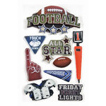 Paper House Productions - Football Collection - 3 Dimensional Cardstock Stickers with Foil and Glossy Accents - Football