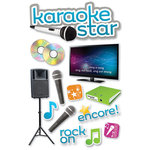 Paper House Productions - 3 Dimensional Cardstock Stickers - Karaoke