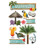 Paper House Productions - Caribbean Collection - 3 Dimensional Cardstock Stickers - Caribbean