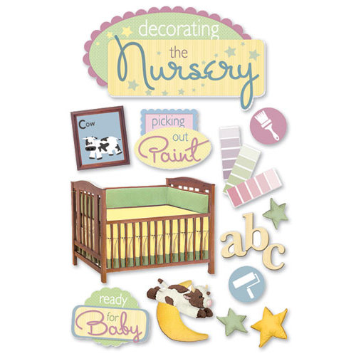 Paper House Productions - 3 Dimensional Cardstock Stickers - Decorating the Nursery