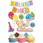 Paper House Productions - Birthday Collection - 3 Dimensional Cardstock Stickers - School Party