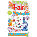 Paper House Productions - 3 Dimensional Cardstock Stickers - Science Fair