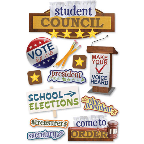 Paper House Productions - 3 Dimensional Cardstock Stickers - Student Council