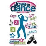 Paper House Productions - 3 Dimensional Cardstock Stickers - Love to Dance
