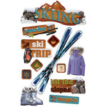 Paper House Productions - Winter Sports Collection - 3 Dimensional Cardstock Stickers - Skiing
