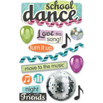 Paper House Productions - 3 Dimensional Cardstock Stickers - School Dance