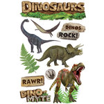Paper House Productions - Dinosaurs Collection - 3 Dimensional Cardstock Stickers - Dinosaurs