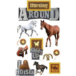 Paper House Productions - Horse Collection - 3 Dimensional Cardstock Stickers - Horsing Around