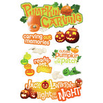 Paper House Productions - Halloween - 3 Dimensional Cardstock Stickers - Pumpkin Carving