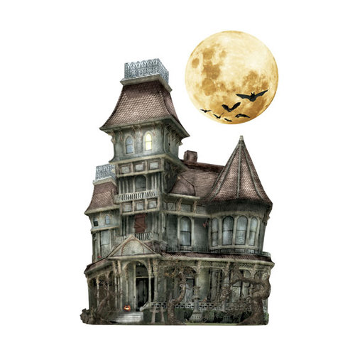 Paper House Productions - Halloween - 3 Dimensional Cardstock Stickers - Haunted House