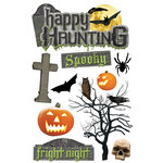 Paper House Productions - Halloween - 3 Dimensional Cardstock Stickers - Happy Haunting
