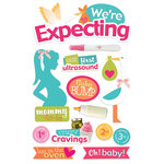 Paper House Productions - 3 Dimensional Stickers with Glitter and Ribbon Accents - We're Expecting