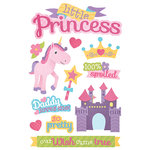 Paper House Productions - 3 Dimensional Stickers with Glitter Accents - Little Princess