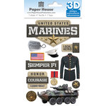 Paper House Productions - 3 Dimensional Stickers with Foil Accents - Marines