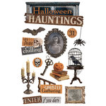Paper House Productions - 3 Dimensional Stickers with Glitter and Epoxy Accents - Halloween Hauntings