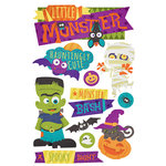 Paper House Productions - 3 Dimensional Stickers with Glitter Accents - Halloween Monster