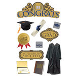 Paper House Productions - 3 Dimensional Cardstock Stickers - Congrats