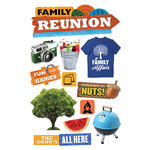 Paper House Productions - 3 Dimensional Cardstock Stickers - Family Reunion