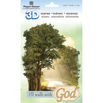 Paper House Productions - 3D Scenes - 3 Dimensional Cardstock Stickers with Foil and Glitter Accents - Walk With God