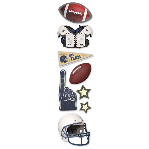 Paper House Productions - Football Collection - 3 Dimensional Cardstock Stickers - Football