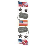 Paper House Productions - 3 Dimensional Stickers with Glitter Accents - American Hero