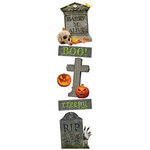 Paper House Productions - Halloween - 3 Dimensional Stickers with Glitter Accents - Cemetery 2
