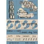 Paper House Productions - Baby Boy Collection - Fabric Stickers - Baby Boy, CLEARANCE