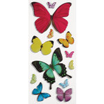 Paper House Productions - 3 Dimensional Puffy Stickers - Butterflies