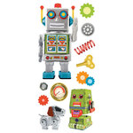 Paper House Productions - 3 Dimensional Puffy Stickers - Robots