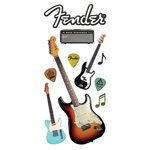 Paper House Productions - 3 Dimensional Puffy Stickers - Fender