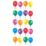 Paper House Productions - Sculpted - Puffy Stickers - Birthday Balloons