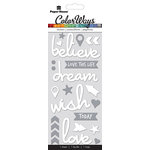 Paper House Productions - Color Ways Collection - Sapphire - Puffy Stickers - Believe