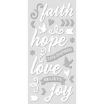 Paper House Productions - Sculpted - Puffy Stickers - Faith