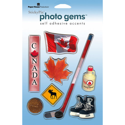 Paper House Productions - Canada Collection - Epoxy Stickers - Canada