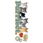 Paper House Productions - Cat Collection - 3 Dimensional Cardstock Stickers - Purrfect