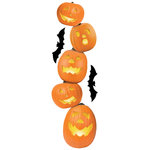 Paper House Productions - Halloween - 3 Dimensional Stickers with Glitter Accents - Jack 'O Lanterns 2