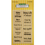 PJK Designs - Cookbookin' - Modern Market Collection - Clear Acrylic Stamps - Tasty Phrases, CLEARANCE