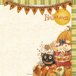 PJK Designs - Cookbookin' - Halloween Goodies Collection - 12 x 12 Paper - Homemade Halloween, CLEARANCE