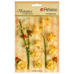 Petaloo - Botanica Collection - Floral Embellishments - Ephemera - Soft Yellow