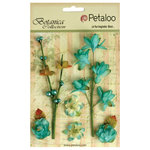 Petaloo - Botanica Collection - Floral Embellishments - Ephemera - Teal
